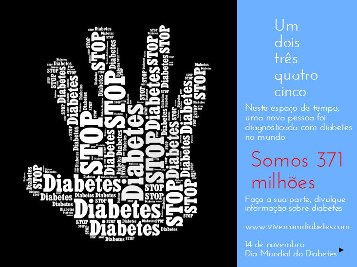 Conte até cinco. Neste espaço de tempo uma nova pessoa foi diagnosticada com #diabetes (#novembroazul)