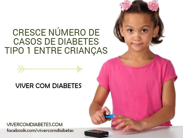 Cresce número de crianças com diabetes tipo